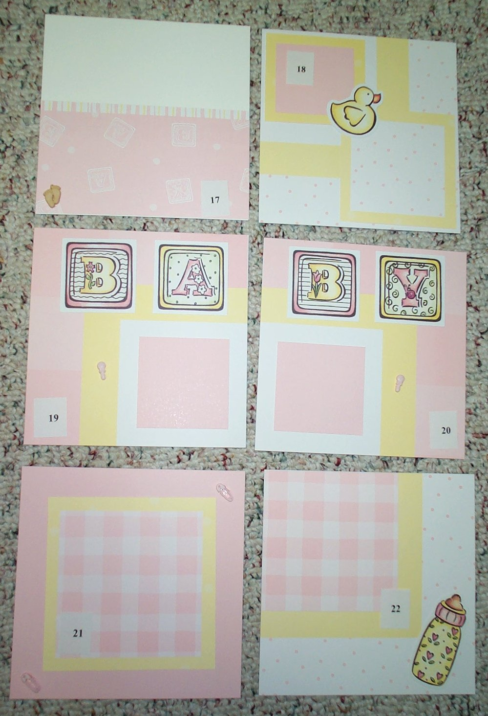 Baby girl scrapbook ideas - Baby Girl Photo 4 Layouts 17 21